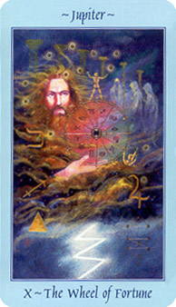 Celestial Tarot Deck - The Wheel Of Fortune