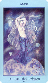 Celestial Tarot Deck - The High Priestess